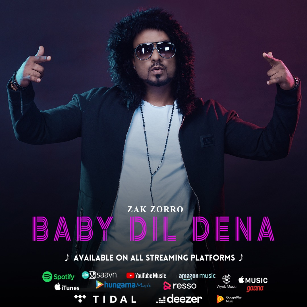 "Zak Zorro releases ""Baby Dil Dena"" 4th Music Album"