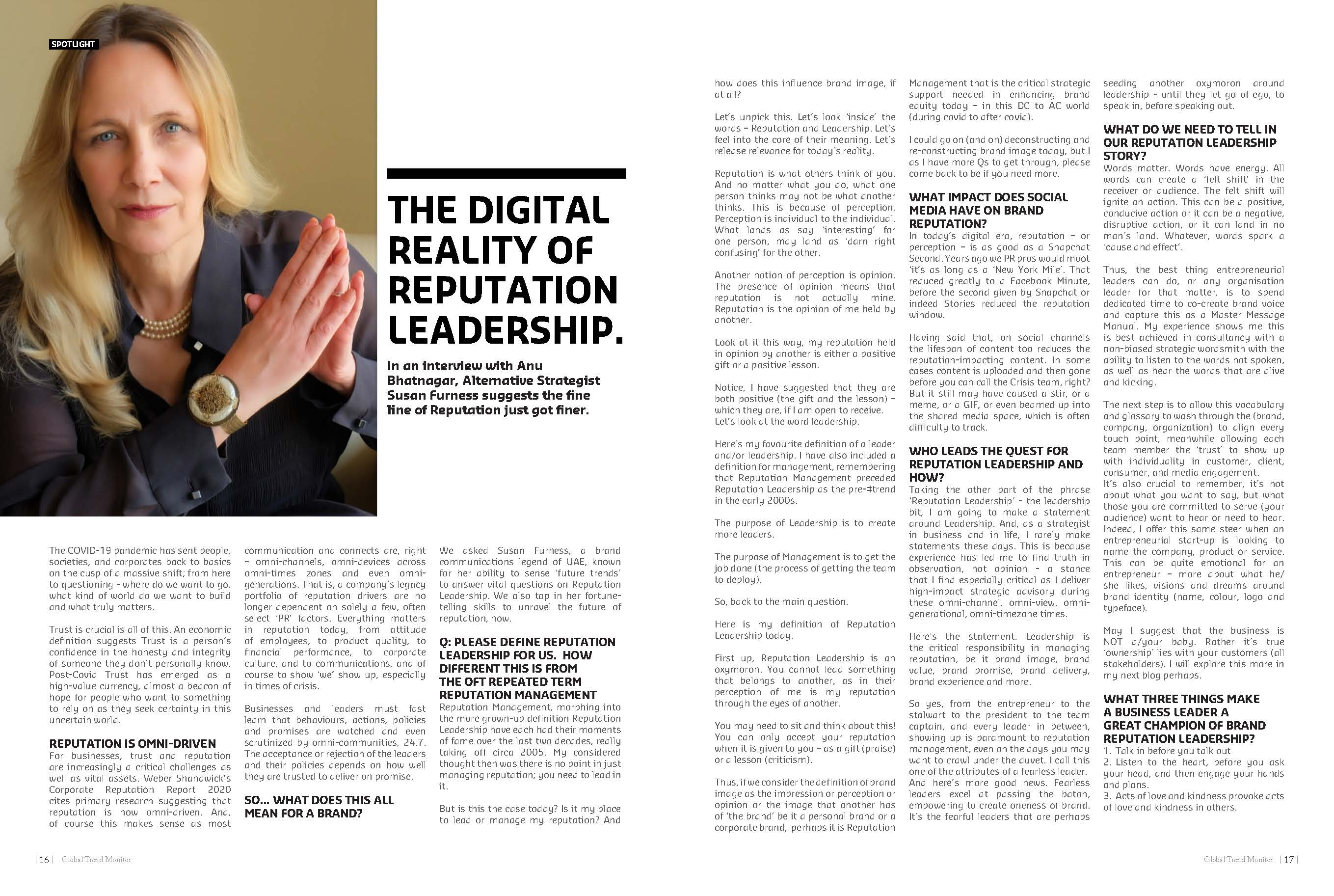 The Digital Reality of Reputation Leadership.